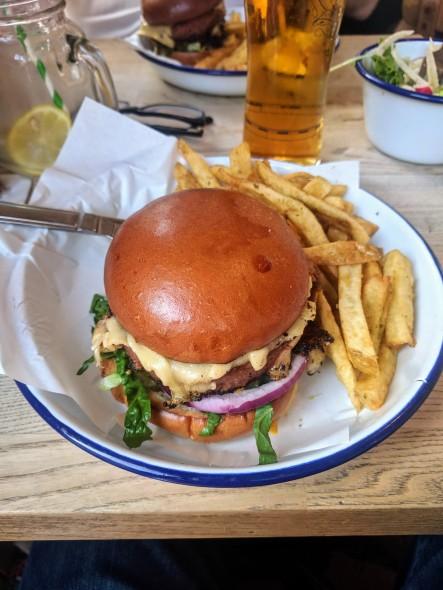 Burger whole